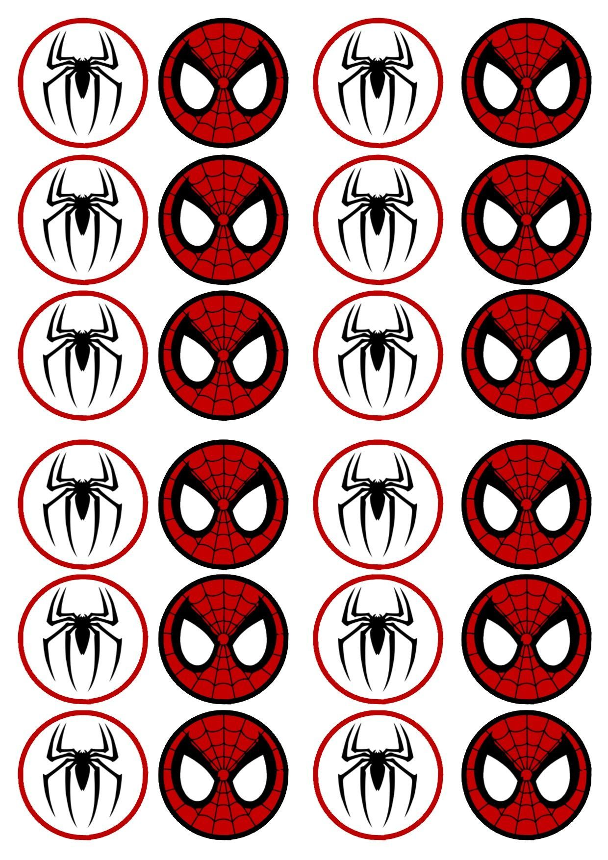 free printable cupcake wrappers and toppers with spiderman - Google ...