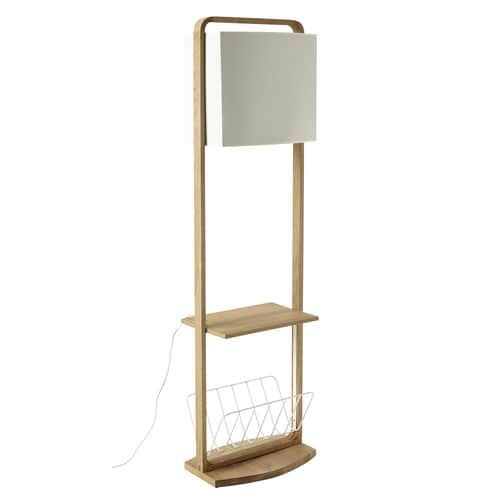 Bon ANTARTIK Oak Floor Lamp With Storage H 153cm
