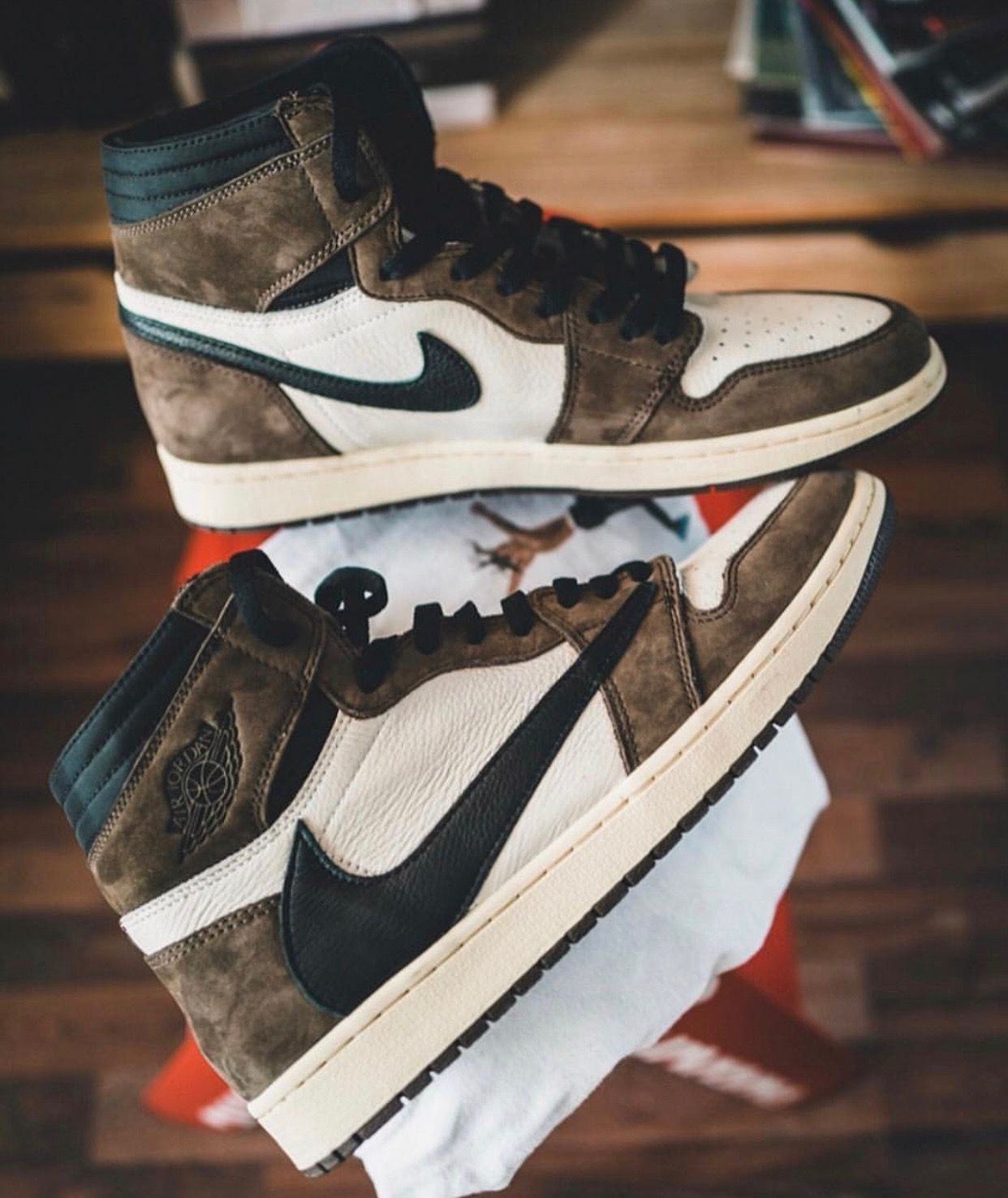 travis scott air jordan 1 cactus jacks sneakers men fashion hype shoes shoes sneakers nike travis scott air jordan 1 cactus jacks