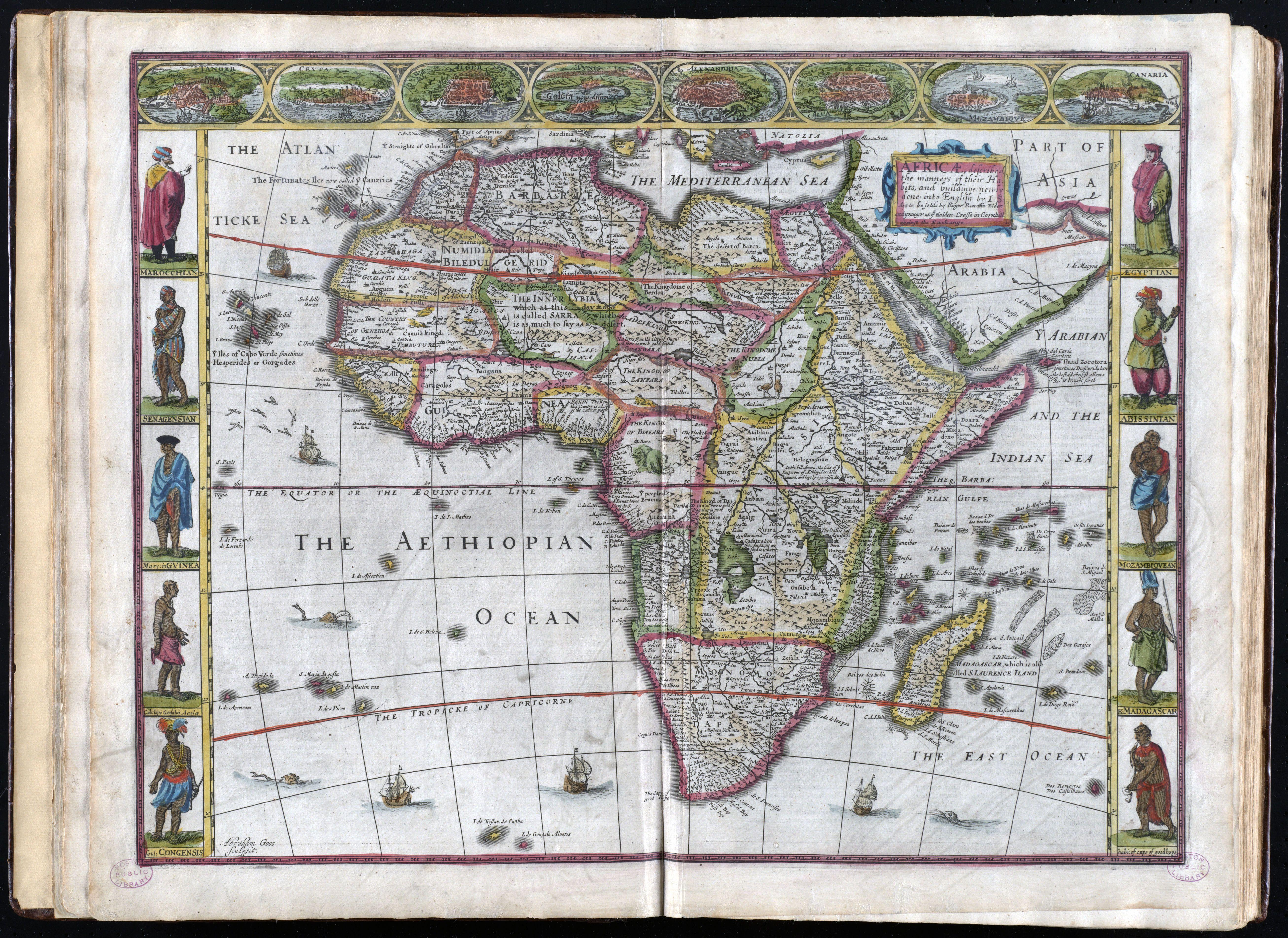 1662 Map of Africa #map #africa | Africa map, Historical maps, Map