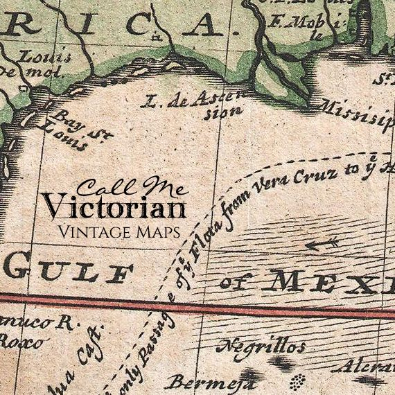 Vintage World Map Art And Decor Call Me Victorian Call Me - Victorian world map