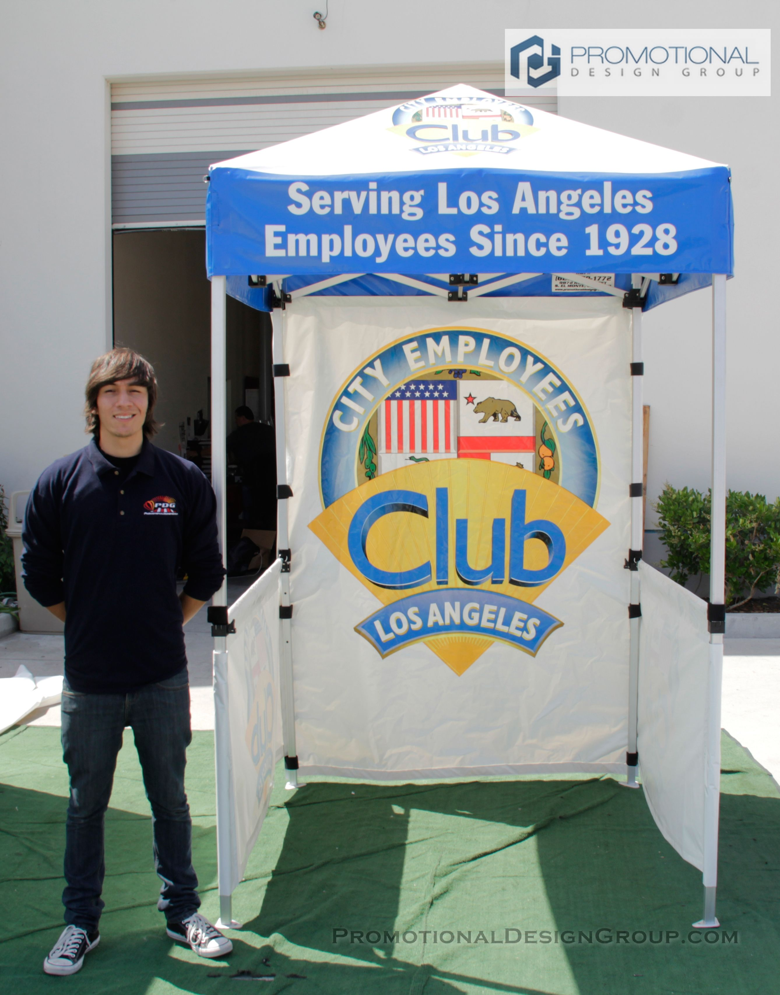5' x 5' Pop Up Tent for City Employees Club