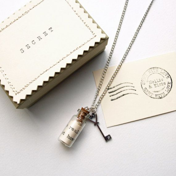 Personalised Secret Message in a Bottle Necklace Bead