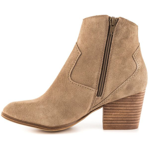 Aldo Women's Marecchia - Beige ($90) ❤ liked on Polyvore featuring shoes, boots, block heel shoes, block heel boots, synthetic boots, leather upper boots and aldo boots