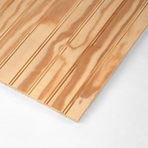 Ply Bead 11 32 1 6 In Classic Plybead Plywood Panel 538281 At The Home Depot Plywood Siding Wood Panel Siding Plywood Panels