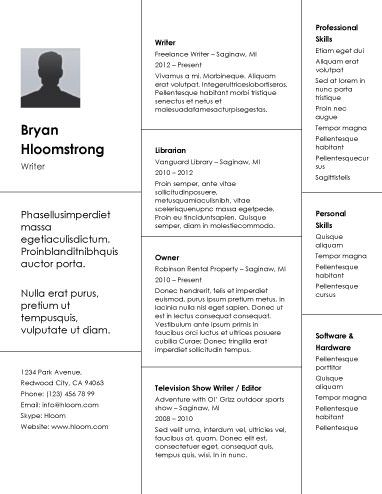 Creative Bricks - Free Resume Template by Hloom words - resume library