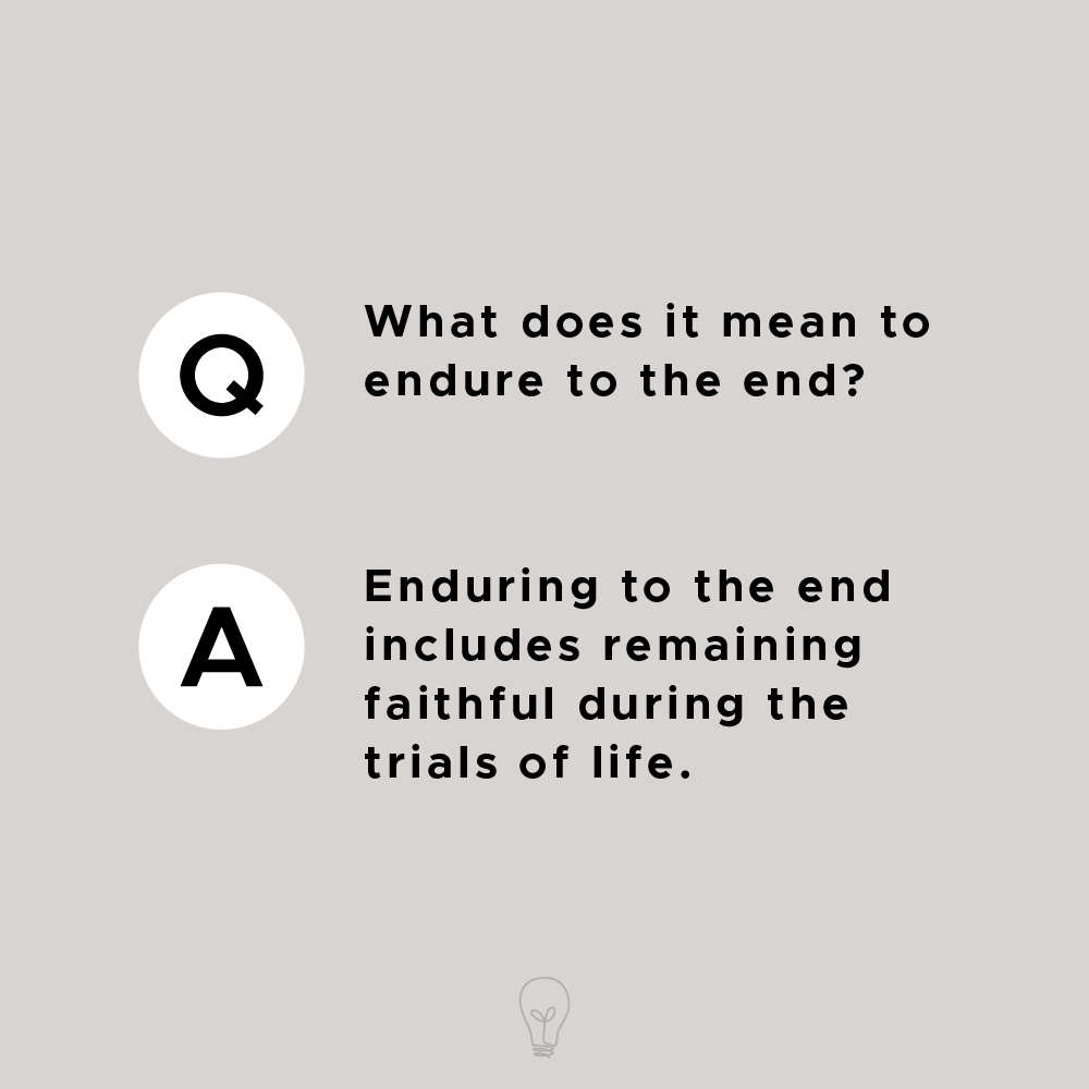 What Does Enduring Mean To You?