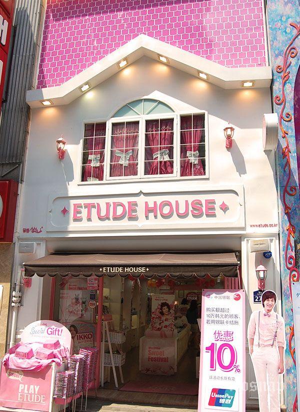 Etude House in Myungdong Etude house, South korea and Korea