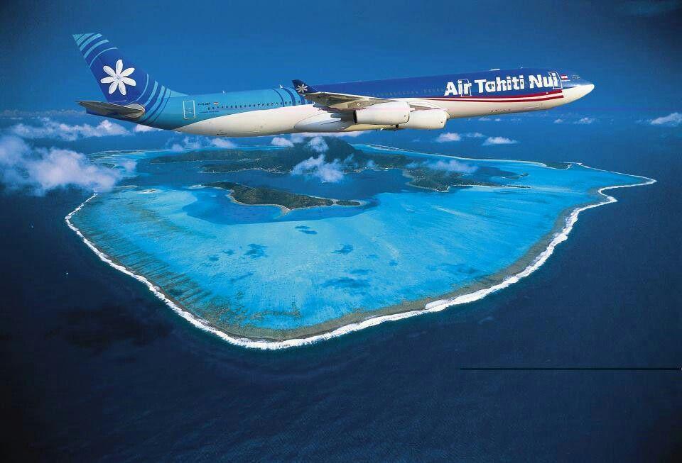Air Tahiti Nui, survol de Bora Bora