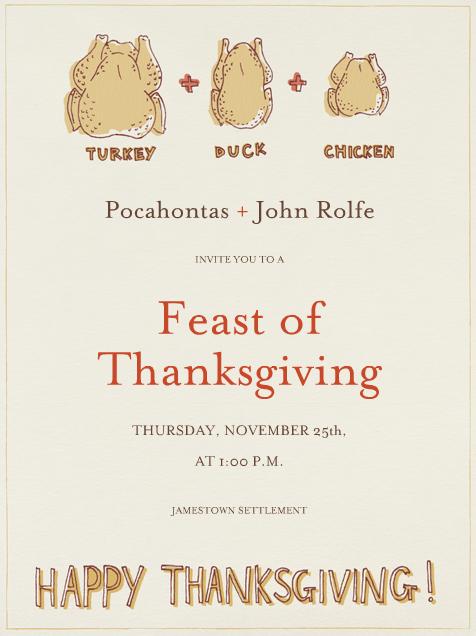 """Turducken Thanksgiving"" Card, Paperless Post"