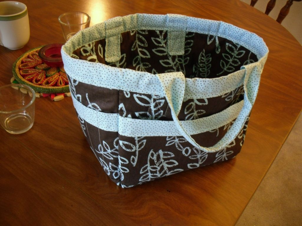I made this Its to hold my knitting projects The left side has slits in the p  I made this Its to hold my knitting projects The left side has slits in the pockets to hold...
