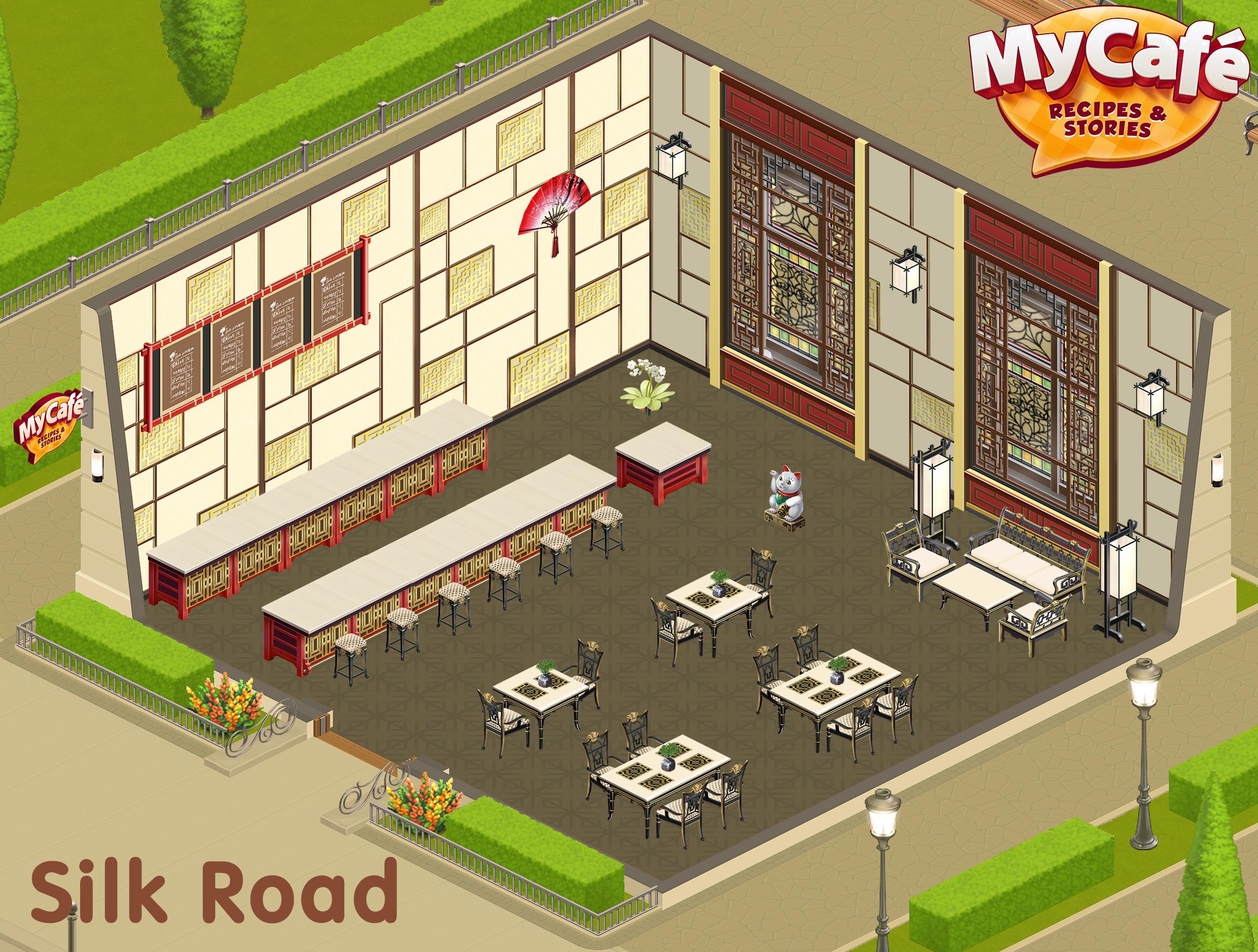 Silk Road Chinese Style My Cafe Game Mycafe Mycafegame Diversao