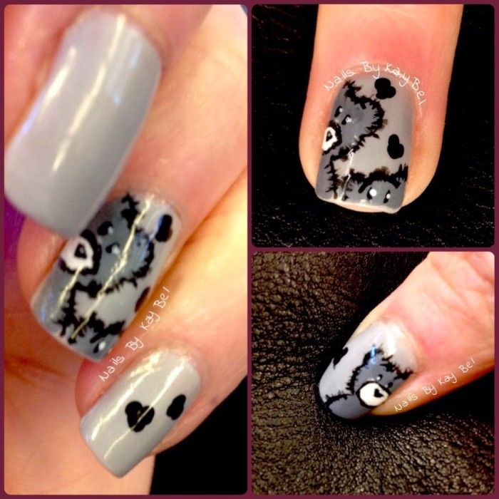 Nails by KayBel: Freehand Teddy Bears Nail Art (inspired by ...