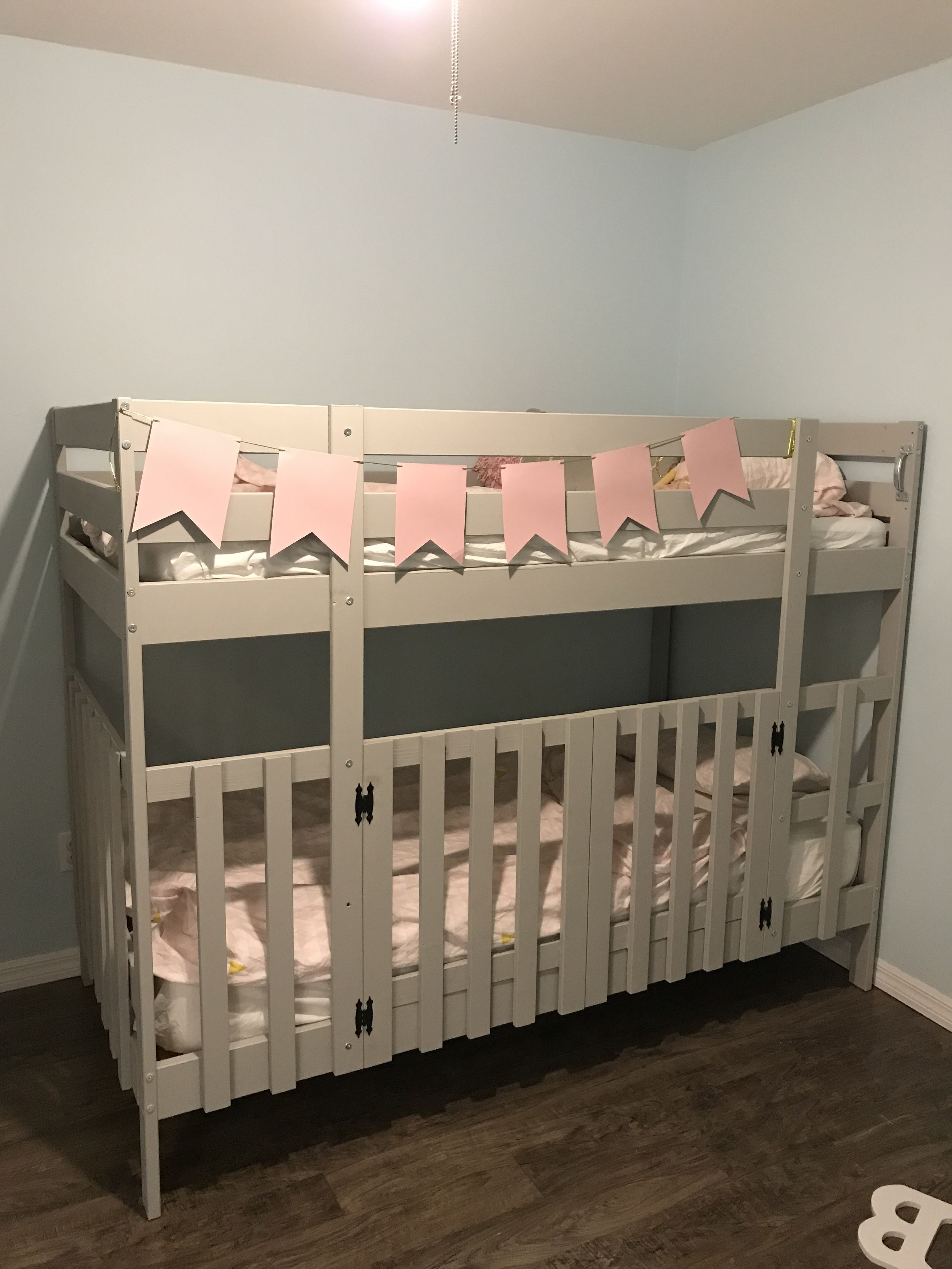 Bunk bed hack created a crib at the bottom Kid beds