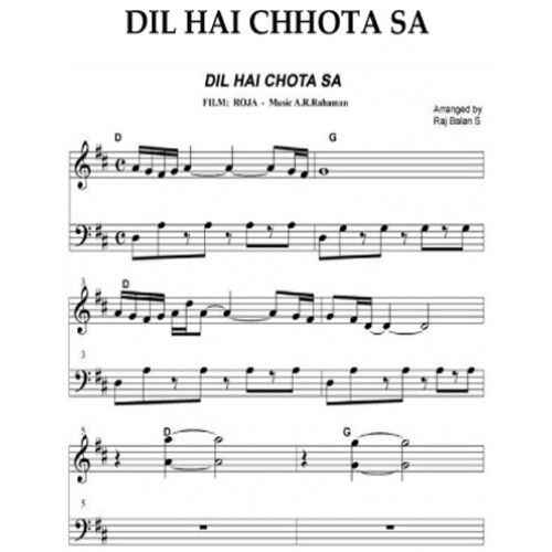 Guitar guitar chords bollywood songs : Guitar Sheet Music For Popular Hindi Songs - sheet music for ...