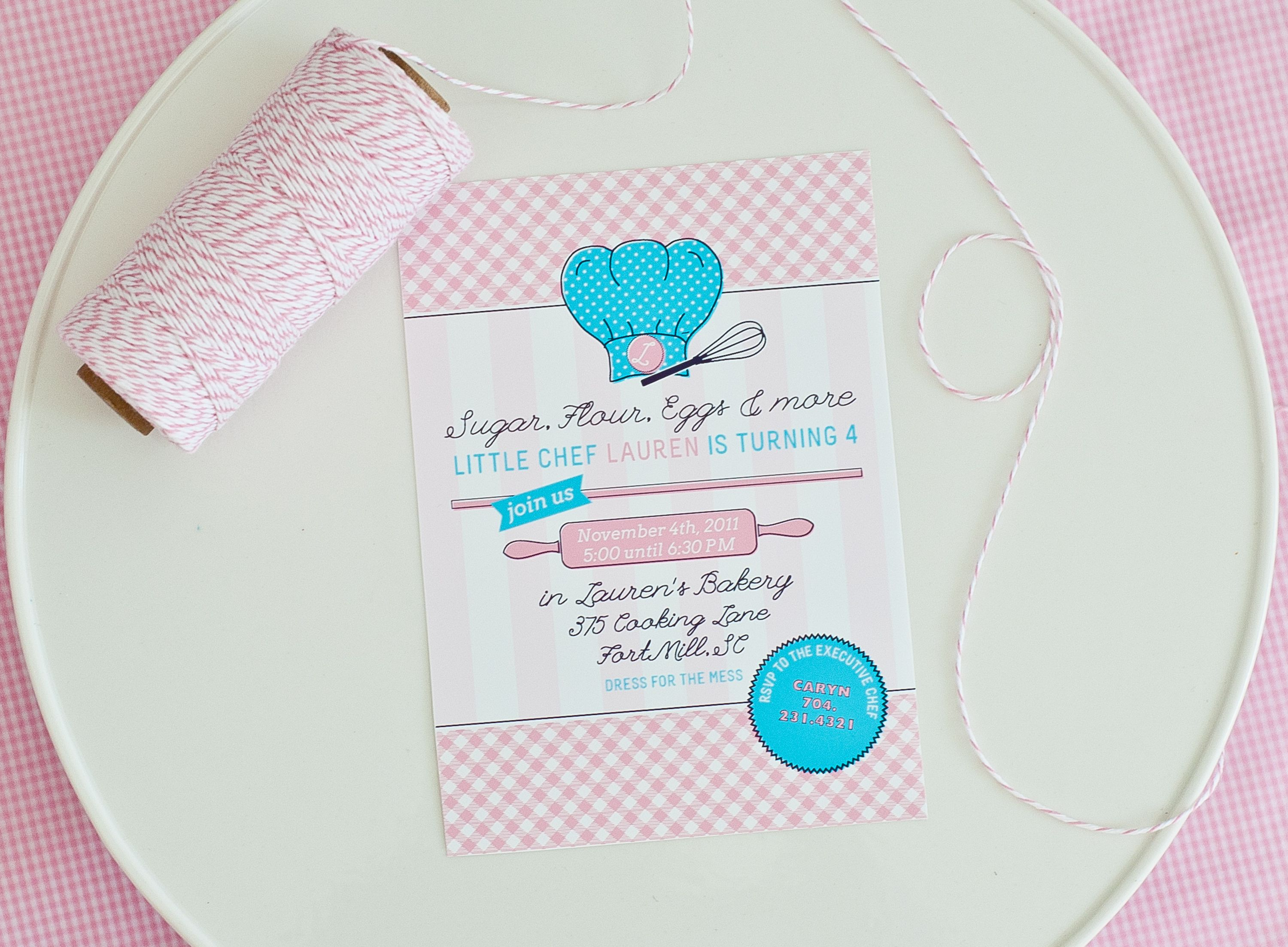 cooking party, invitation, chef, kitchen, birthday party | Kid\'s ...