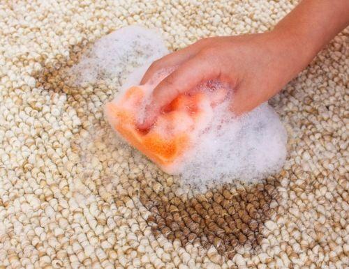 Teppich mit Waschmittel reinigen