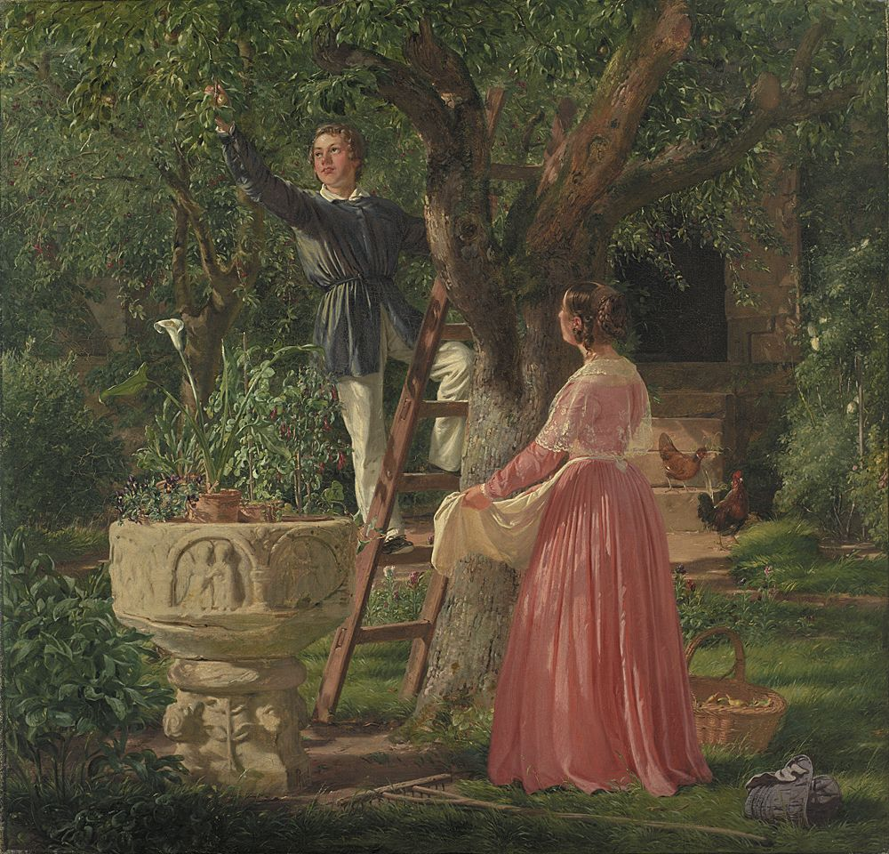 The garden [...] byJørgen Roed, 1850. Statens Museum for Kunst, CC0