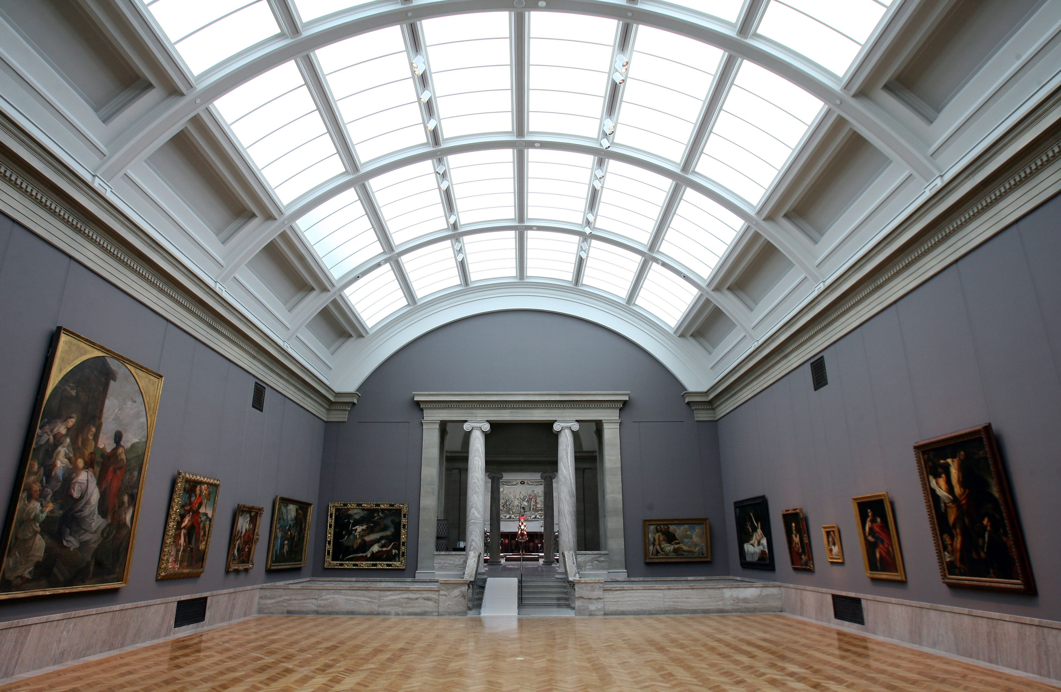 Cleveland Museum Of Art' Newly Renovated Indoor Garden Court Baroque Painting