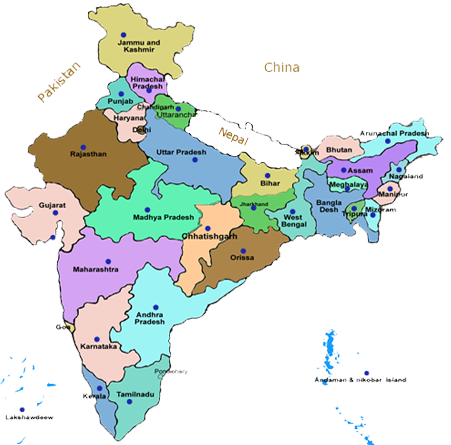 States in India | India State Map | India Map With States ...