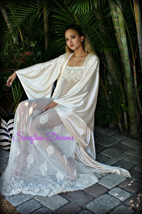 Strapless Lace Nightgown Bridal Lingerie Wedding Nightgown Sleepwear ...
