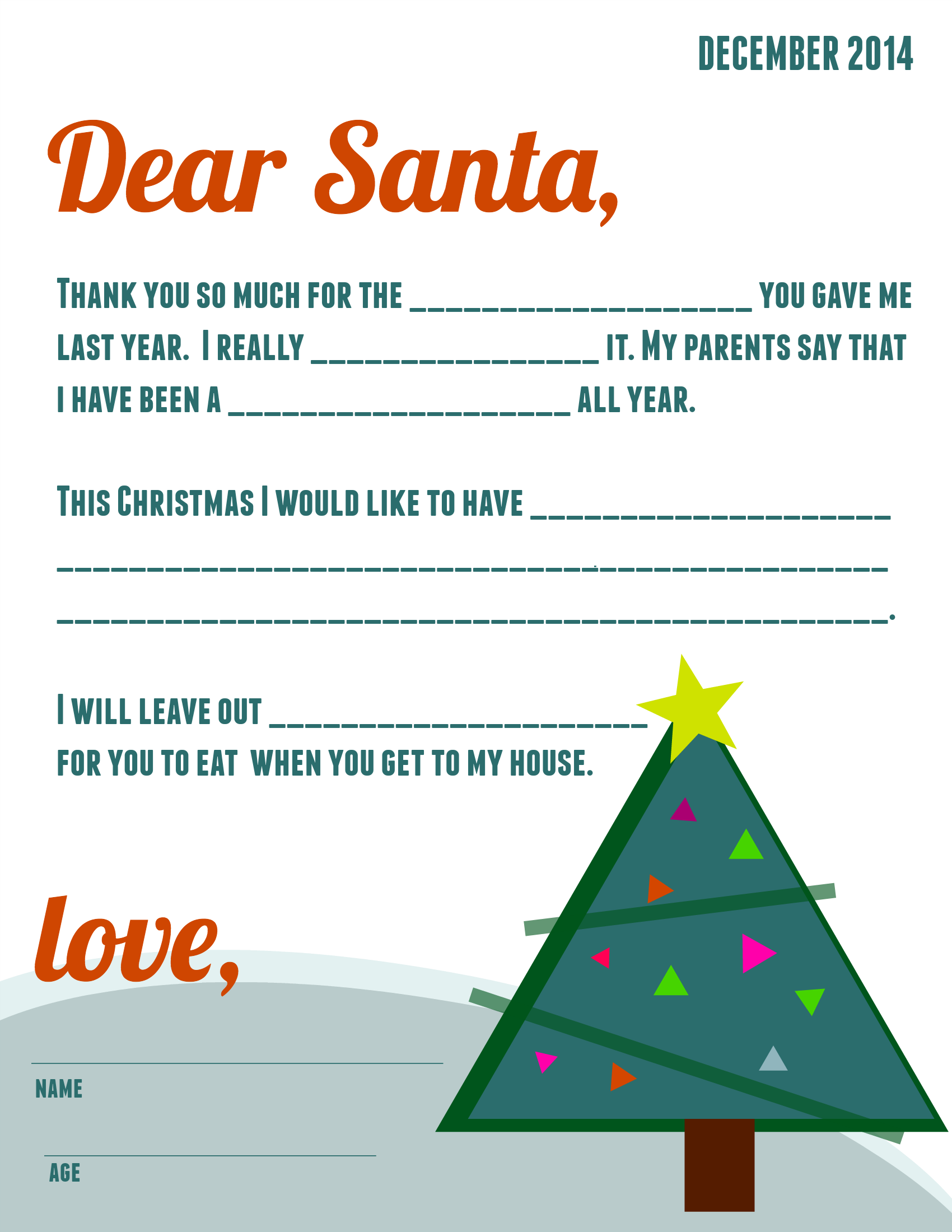 Free Printable Letter To Santa  Printable Letters Free
