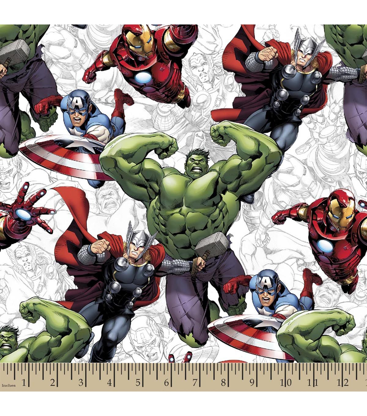 Marvel S The Avengers Print Fabric Printing On Fabric Avengers