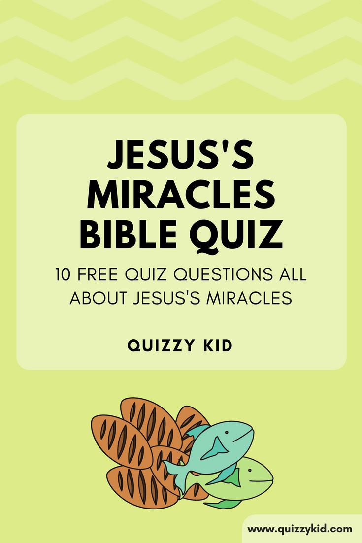 Jesus's miracles Quiz | Bible Quizzes for Kids | Bible quiz