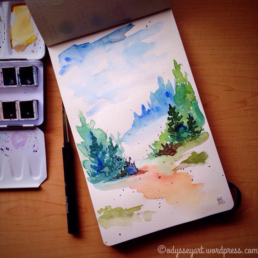 Loose Landscape Schmincke Horadam Watercolors In Moleskine