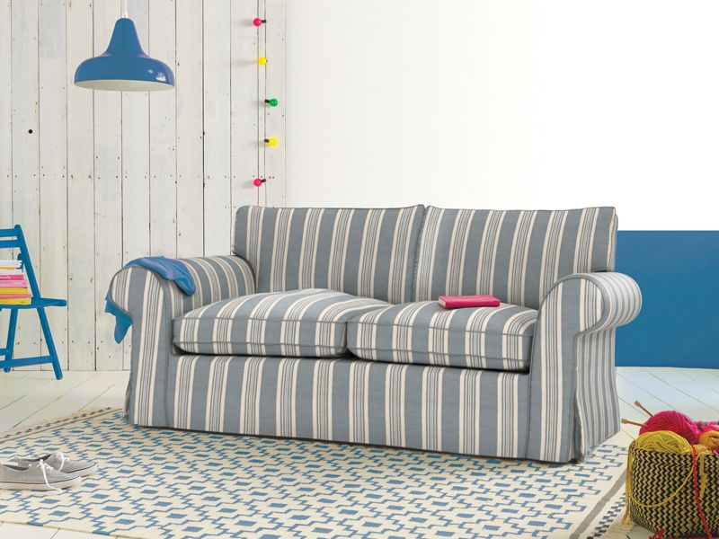 Beach Inspired Decor Cover Your Furniture With Nautical Stripes Slipcover Loveseat Slipcovers Striped Sofa Slipcovers