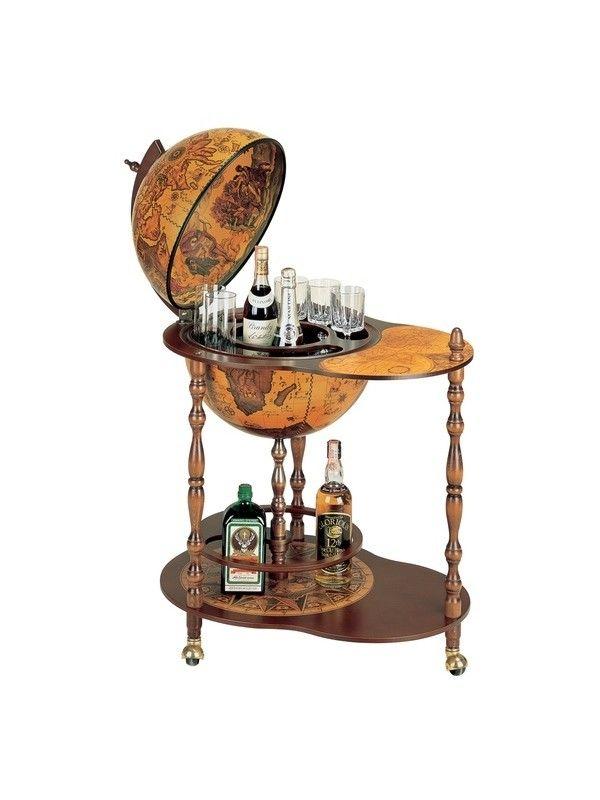 drank #wereldbol - Dorado Vintage huis ideeën Pinterest Trays - türgriffe für küchenschränke
