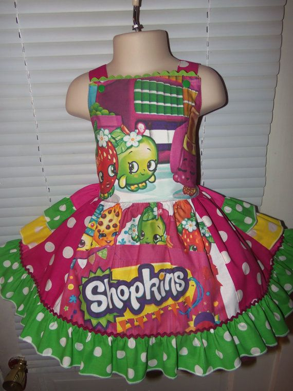 shopkins dress size 2t 3t 20in length ready by rose7mary7 all