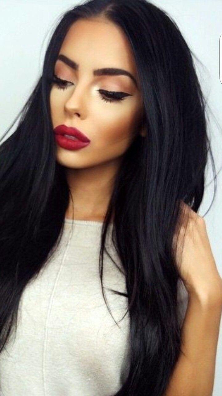 Red lips make up pinterest lips