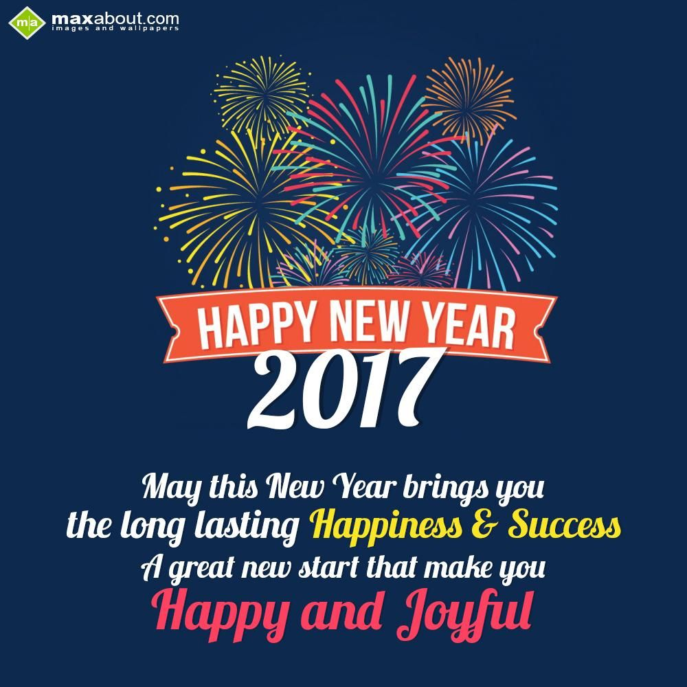 May This New Year Brings You The Long Lasting Happiness Success