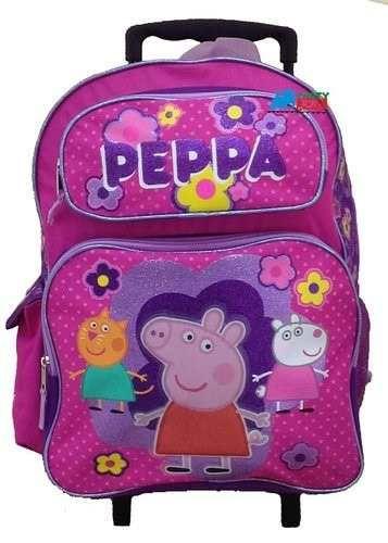 7f6b8f501 maleta escolar con ruedas grande primaria peppa pig george | mis ...