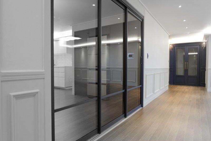 주방 거실 분리 홈데코 슬라이딩 도어 3연동 중문이 설치 시공된 대전엑스포아파트 49평 인테리어 리모델링 네이버 블로그