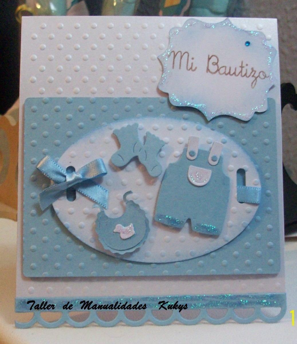Invitaciones Baby Shower Niño ~ Resultado de imagen para tarjetas scrap bautizo