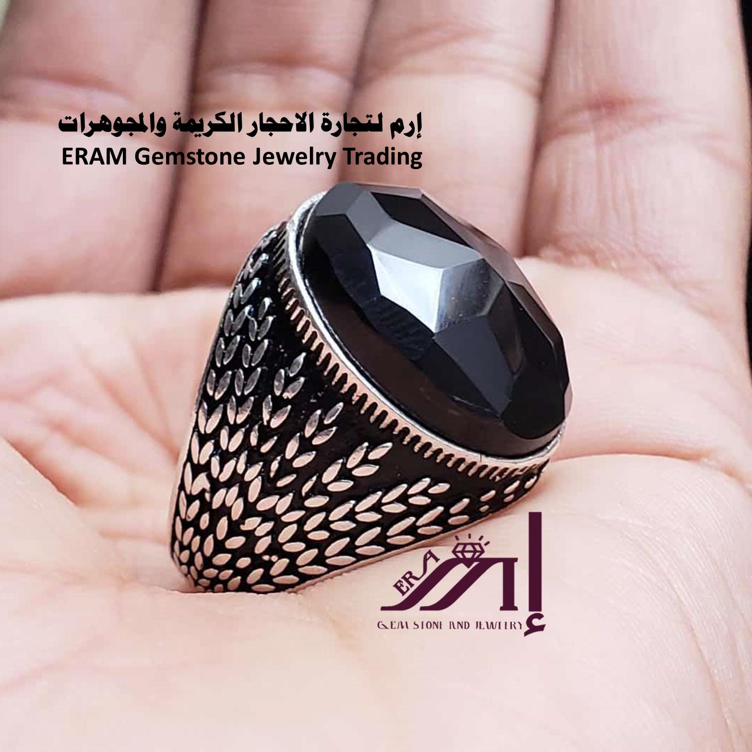خواتم عقيق يمني اسود مركن Agate مميز طبيعي100 الموديل للعرض Rings For Men Rings Jewelry