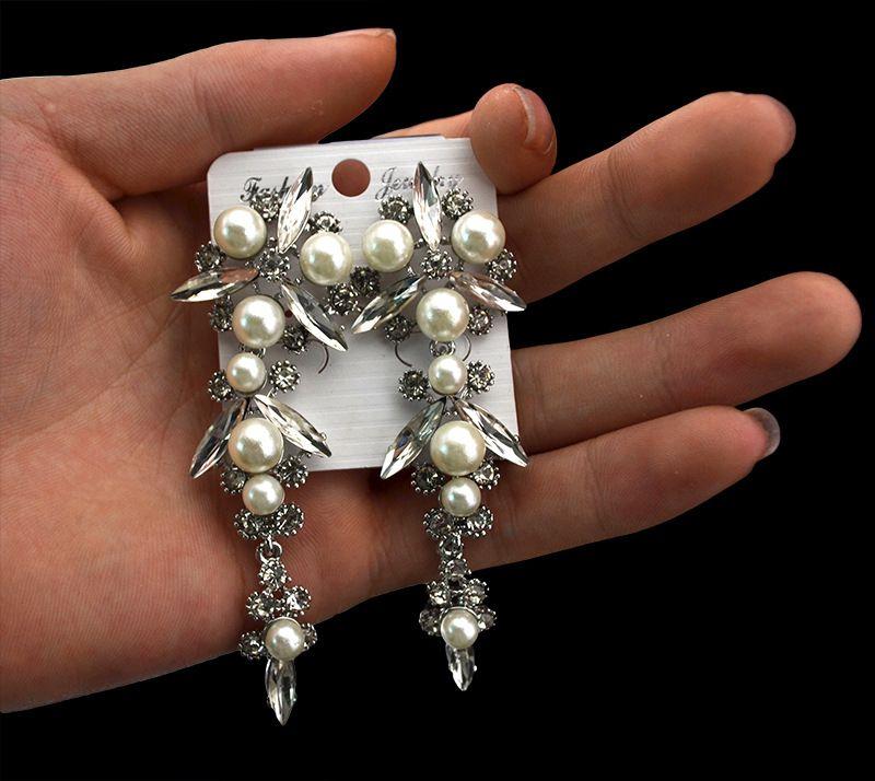#Korean Style#Elegant Korean Style Rhinestone Pearls Embellished Long Bride's Earrings Silver http://www.clothing-dropship.com/elegant-korean-style-rhinestone-pearls-embellished-long-bride-E2-80-99s-earrings-silver-g2332381.html