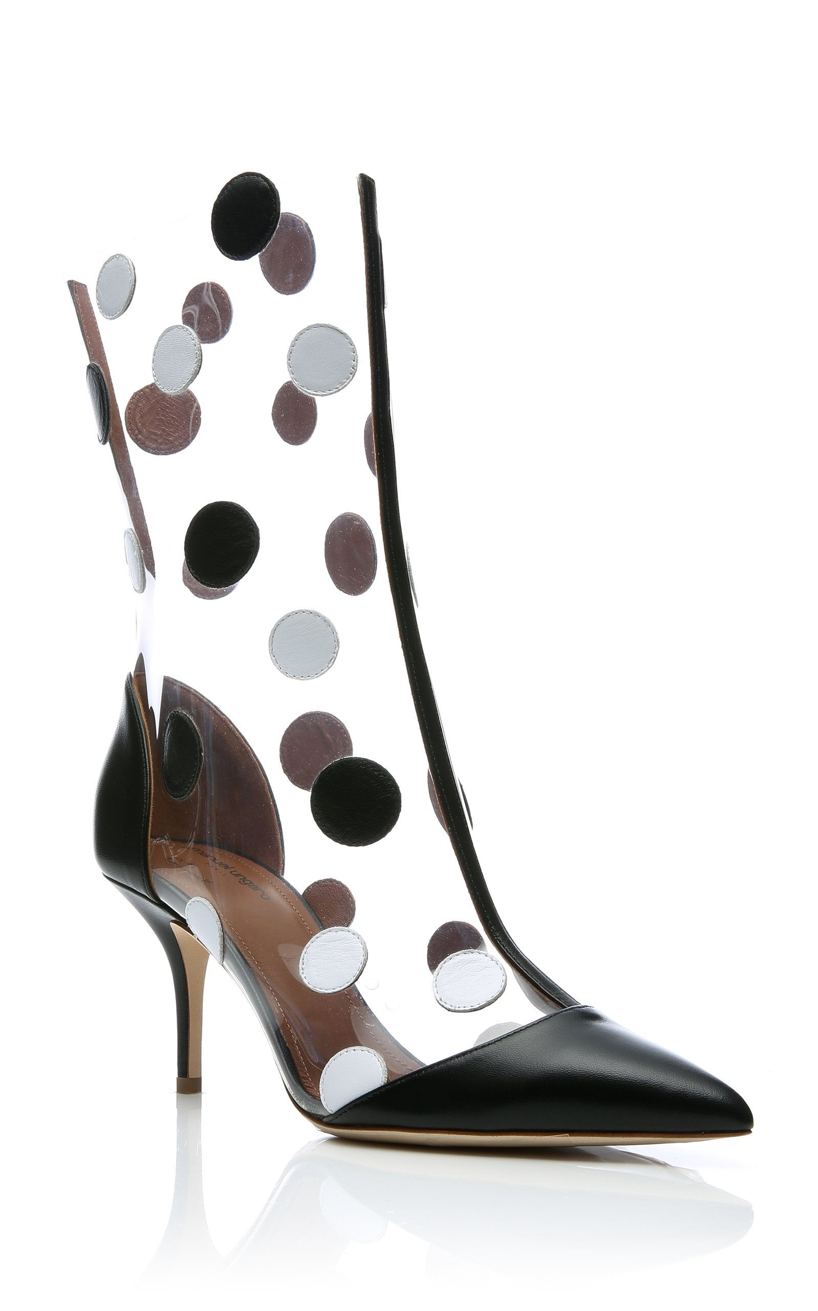 5efbcdc5d Malone Souliers X Emanuel Ungaro - Katoucha Polka-Dot Leather And PVC Boots