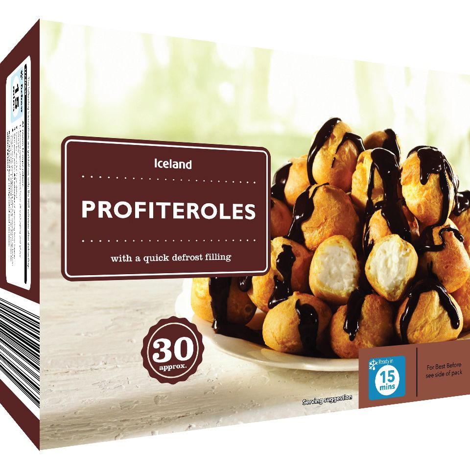 Iceland 30 Approx Quick Defrost Profiteroles 470g Iceland Food Profiteroles Iceland