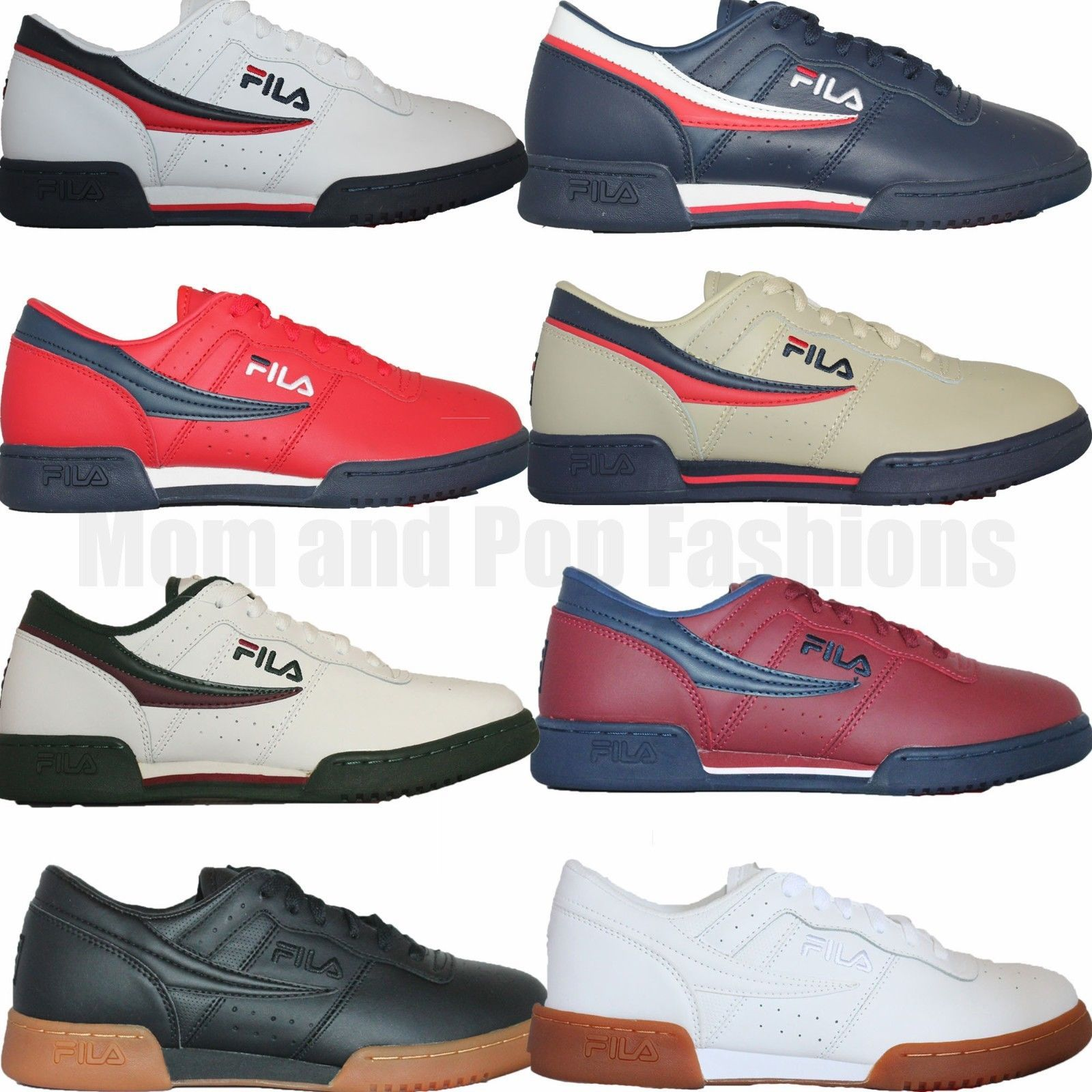 4c3532f58b66 Casual 24087  Mens Fila Original Fitness Classic Retro Casual Athletic Shoes  White Navy Red -  BUY IT NOW ONLY   49.9 on eBay!