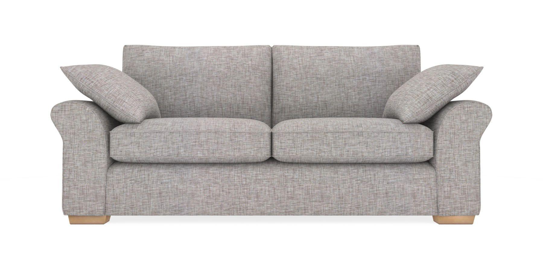 Buy Garda Large Sofa 3 Seats Boucle Blend Light Dove Block Light From The Next Uk Online Shop