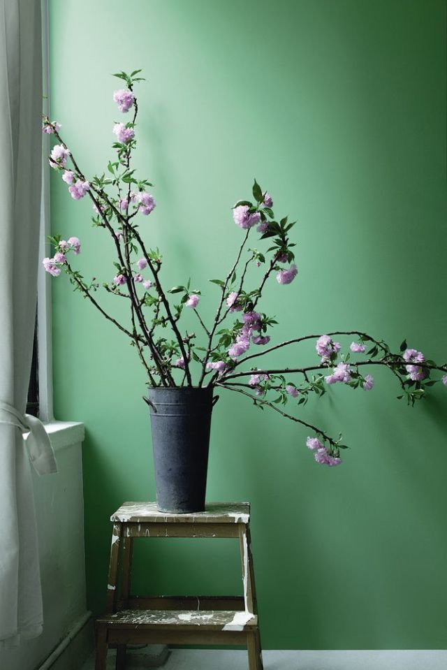 Why green should always be seen in our homes: Bring spaces in your home to life and add a vibrant sense of warmth with this bold and saturated colour. Stokes Forest Green (above) is a bright, leafy shade that works well against crisp white and with muted pinks, lilacs, and browns. - Helen Shaw, Benjamin Moore. Find more inspiration at housebeautiful.co.uk