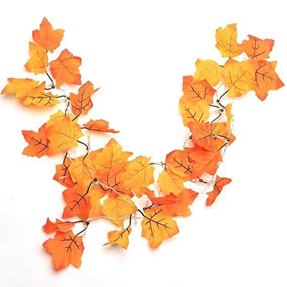 Thanksgiving Decorations Lighted Fall Garland, Thanksgiving Decor