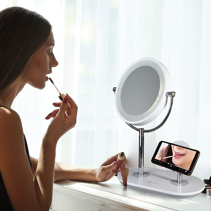 OttLite Wireless Charging LED Makeup Mirror #ledtechnology