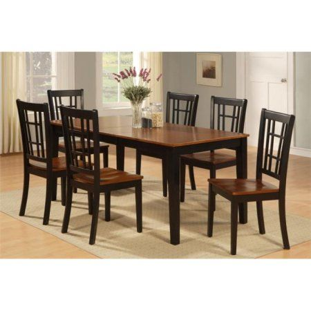 7 Piece Formal Dining Room Set-Dining Room Table and 6 Chairs For