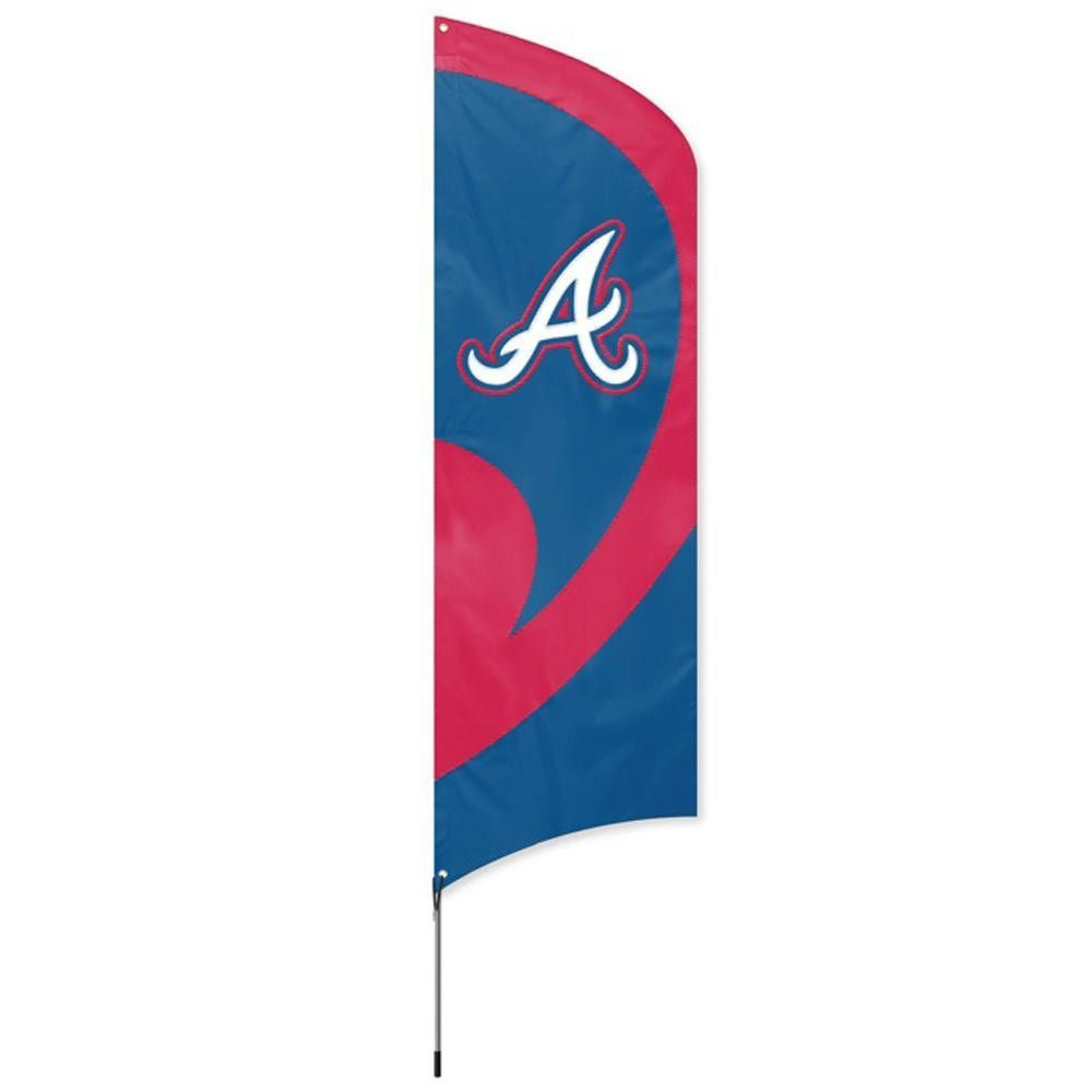 Atlanta Braves MLB Applique & Embroidered Tall Team Flag (102x30)