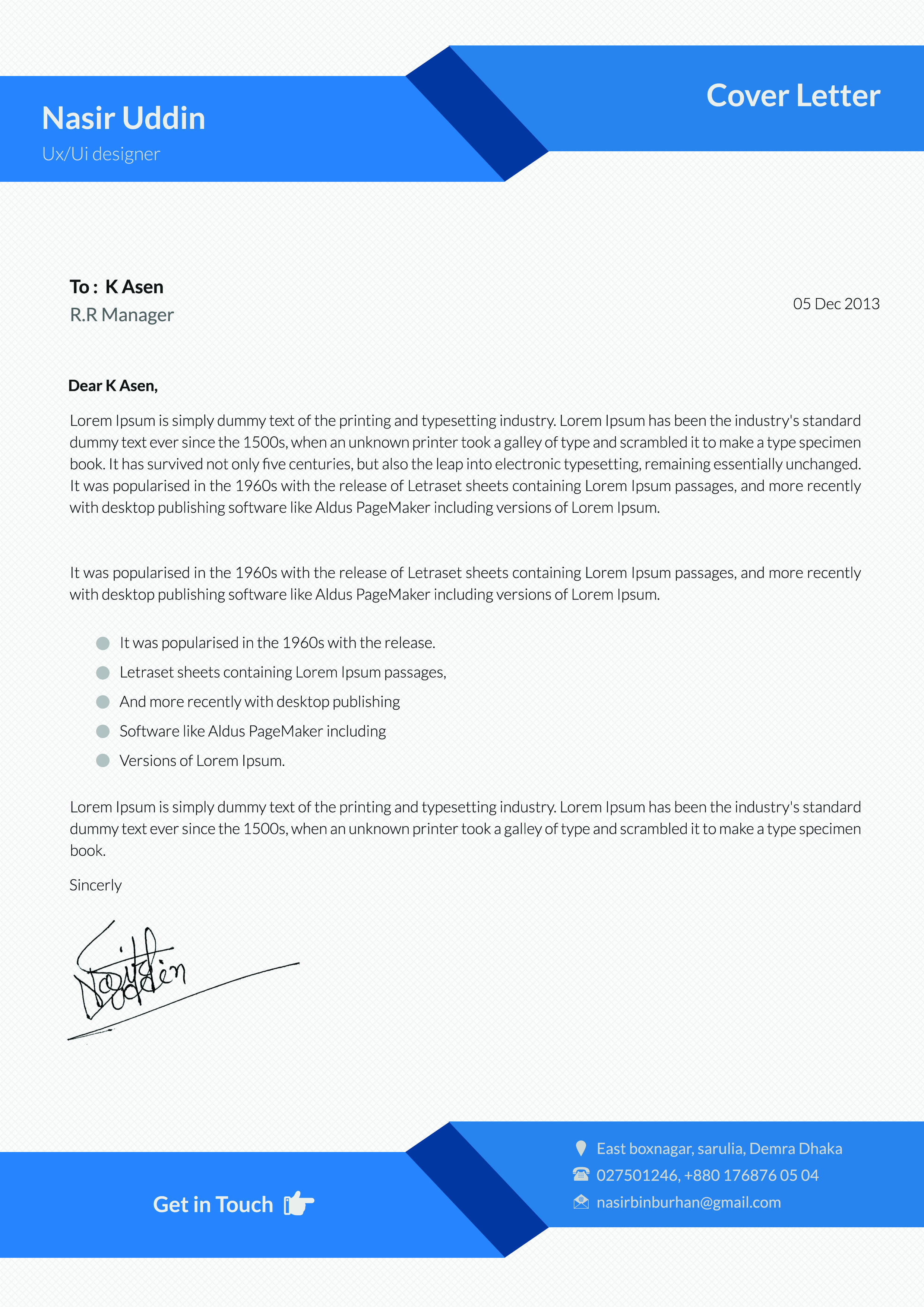 example 12 i will design resume awesome cv for you for 5https