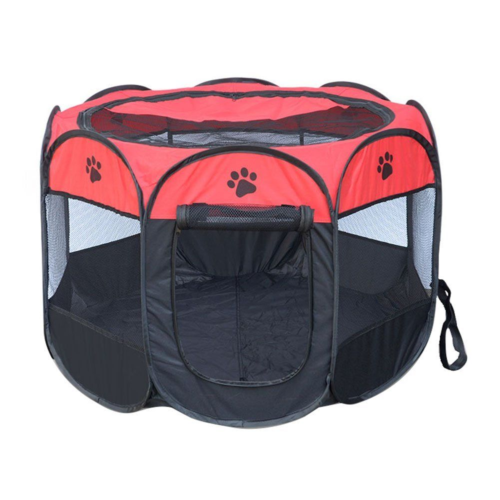 Highdas Pet Dog Cat Playpen Cage Crate   Portable Folding Exercise Kennel    Indoor And Outdoor
